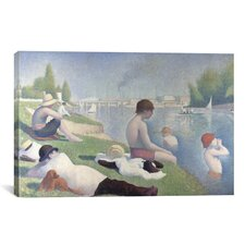 'Bathers at Asnieres 1884' by Georges Seurat Painting Print on Canvas