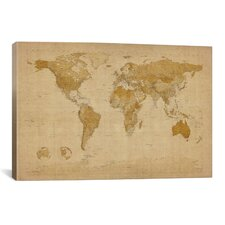 'Antique World Map II' by Michael Tompsett Graphic Art on Canvas