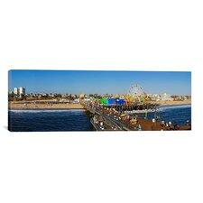Panoramic Santa Monica Pier Photographic Print on Canvas