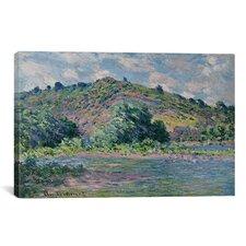 'Bords de la Seine a Port-Villez 1885' by Claude Monet Painting Print on Canvas