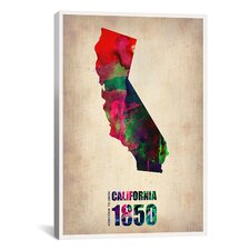 Naxart 'California Watercolor Map' Graphic Art on Canvas