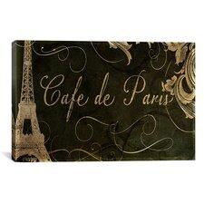 Color Bakery 'Café de Paris' Vintage Advertisement on Canvas