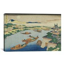'Yodogawa (De La Serie De Setsuugek'ka)' by Katsushika Hokusai Painting Print on Canvas