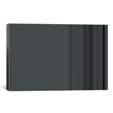 Striped Charcoal Gray Graphic Art on Canvas