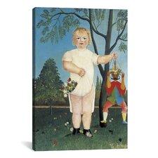 'Child with a Puppet (Zur Feier des Kindes) 1903' by Henri Rousseau Painting Print on Canvas