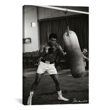 Muhammad Ali Training Photographic Print on Canvas