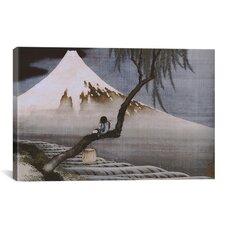 'Boy on Mt Fuji' by Katsushika Hokusai Painting Print on Canvas