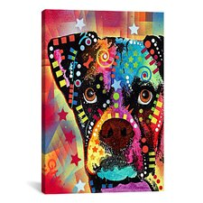 'Boxer Cubism' by Dean Russo Graphic Art on Canvas