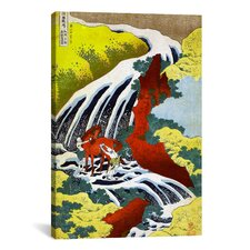 'Yoshitsune Falls' by Katsushika Hokusai Graphic Art on Canvas