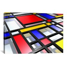 'Abstract Mondrian Style' by Michael Tompsett Graphic Art on Canvas