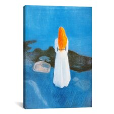 'Young Woman on the Beach' by Edvard Munch Painting Print on Canvas