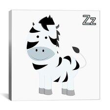Kids Art Z is for Zebra Graphic Canvas Wall Art