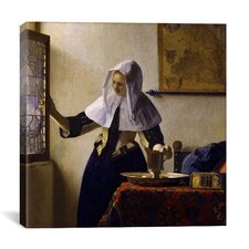 """Young Woman with a Water Pitcher"" Canvas Wall Art By Johannes Vermeer"