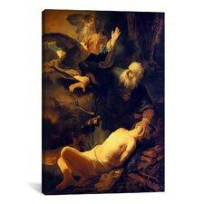 'Abraham and Isaac' by Rembrandt Painting Print on Canvas
