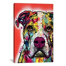 'American Bulldog' by Dean Russo Graphic Art on Canvas