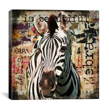 """Zebra Torn Posters"" by Luz Graphics Graphic Art on Canvas"