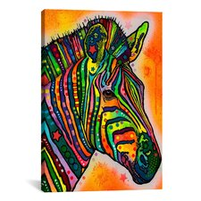 'Zebra' by Dean Russo Graphic Art on Canvas
