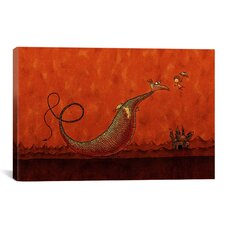 Kids Children Castle and Dragon Canvas Wall Art