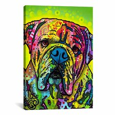 'Hey Bulldog' by Dean Russo Graphic Art on Canvas