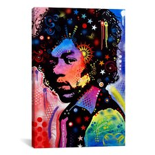 'Jimi Hendrix IV' by Dean Russo Graphic Art on Canvas