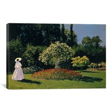 'Jeanne-Marguerite Lecadre (Woman) in The Garden' by Claude Monet Painting Print on Canvas