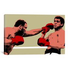 'Joe Frazier Throwing Punch' by Muhammad Ali Graphic Art on Canvas