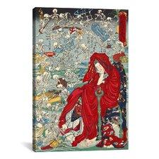 'Japanese Jigoku Dayu (Hell Courtesan)' by Kawanabe Kyosai Painting Print on Canvas