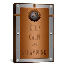 Keep Calm and Steampunk Textual Art on Canvas