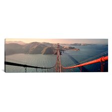 Panoramic Golden Gate Bridge California Photographic Print on Canvas