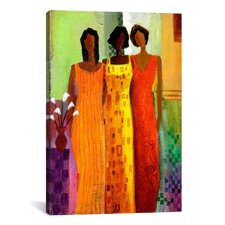 'Girlfriends' by Keith Mallett Painting Print on Canvas