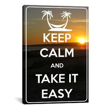 Keep Calm and Take It Easy Textual Art on Canvas