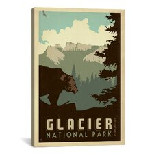 'Glacier National Park' by Anderson Design Group Vintage Advertisement on Canvas