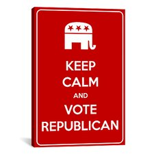 Keep Calm and Vote Republican Textual Art on Canvas