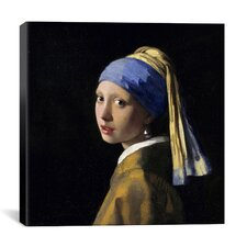 'Girl with a Pearl Earring' by Johannes Vermeer Graphic Art on Canvas
