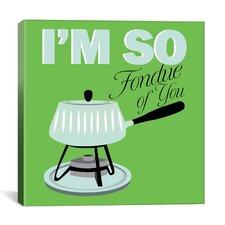 "Kitchen ""I Am So Fondue of You"" Canvas Art"