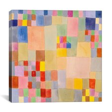 'Panoramic Flora on the Sand' by Paul Klee Graphic Art on Canvas