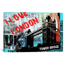 """I Love London"" by Luz Graphics Graphic Art on Canvas"