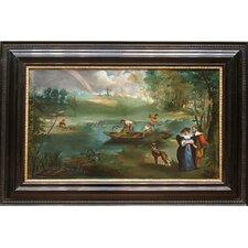Fishing II (La Peche) by Edouard Manet Painting Print on Canvas