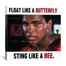 Muhammad Ali Float like a Butterfly Sting like a Bee Graphic Art on Canvas
