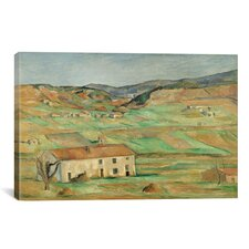 'Environs de Gardanne 1886-1890' by Paul Cezanne Painting Print on Canvas