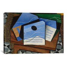 'Guitar on a Table' by Juan Gris Painting Print on Canvas