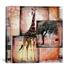 """Girafe"" by Luz Graphics Graphic Art on Canvas"