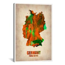 Naxart 'Germany Watercolor Map' Graphic Art on Canvas