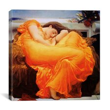 'Flaming June Art' by Frederick Leighton Painting Print on Canvas