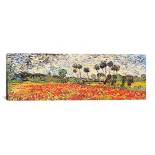 'Field of Poppies' by Vincent Van Gogh Painting Print on Wrapped Canvas