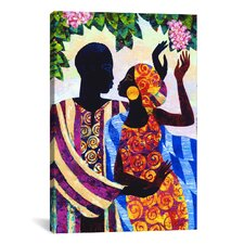 'In the Garden' by Keith Mallett Graphic Art on Canvas
