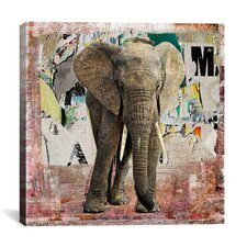 """Elephant Torn"" Poster by Luz Graphics Graphic Art on Canvas"
