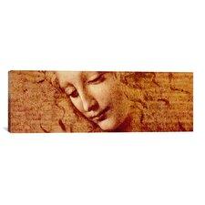 'Female Head' by Leonardo da Vinci Painting Print on Canvas