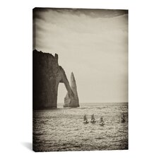 'Four Blue Sails' by Geoffrey Ansel Agrons Photographic Print on Canvas