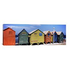 Panoramic 'St. James Beach, Cape Town, South Africa' Photographic Print on Canvas